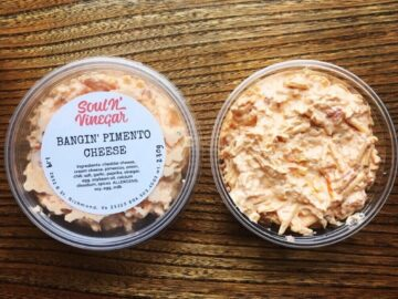 A package of Soul N Vinegar pimento cheese.