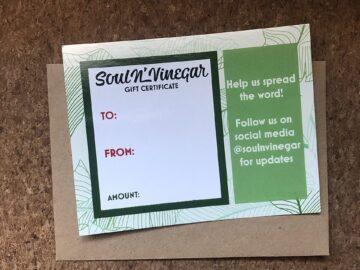 Soul N' Vinegar Gift Card