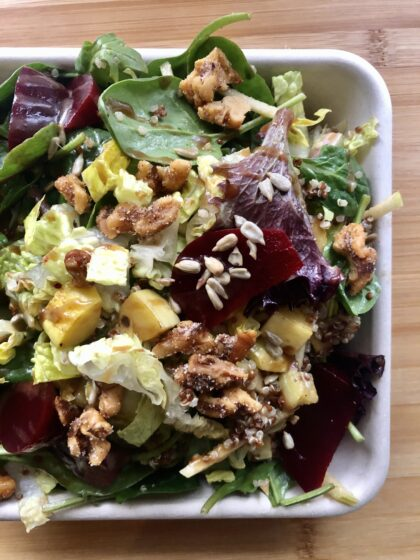 salad with beets and walnuts